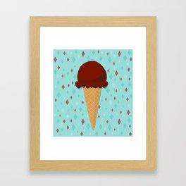 Chocolate ice cream Framed Art Print