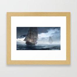 HMS Vanguard Framed Art Print