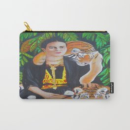 """Frida -""""Lè -w manje pitit tig, ou pa domi di"""" """"The one who ate the tigers baby won't sleep."""" Carry-All Pouch"""