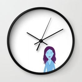 The Girl Who Remains Wall Clock