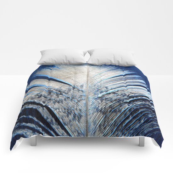 Feather | Feathers | Spiritual | White and Blue Feather | Nature Comforters
