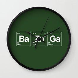 Breaking Bazinga Wall Clock
