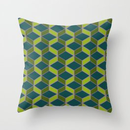 Hexangles - Orchid Throw Pillow
