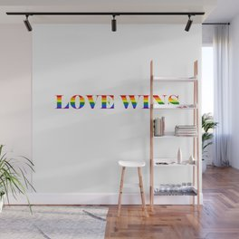 Love Wins White Background Wall Mural