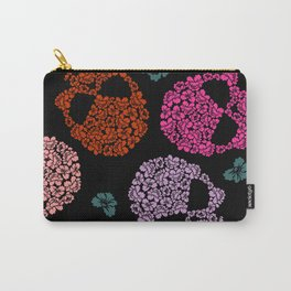 Skull and Flowers Pattern Carry-All Pouch