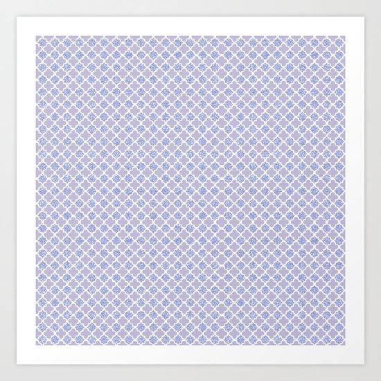 Lilac Quatrefoil Art Print