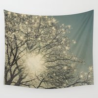 sparkle Wall Tapestries featuring Winter Sparkle by Pure Nature Photos