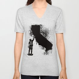 California Tagger Black Unisex V-Neck