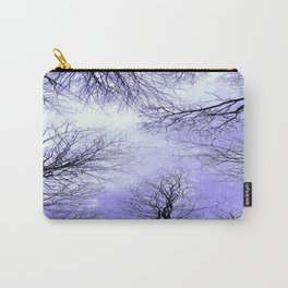 Black Trees Lavender Sky Carry-All Pouch