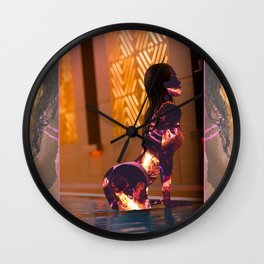 Cold Hearted Girls Wall Clock
