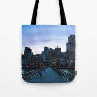metropolis Tote Bags featuring Metropolis by Pan Kelvin