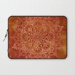 Orange Mandala Laptop Sleeve