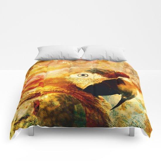 Crazy Parrot Comforters