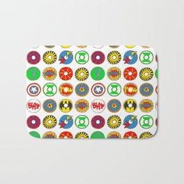 Superhero Donuts Bath Mat