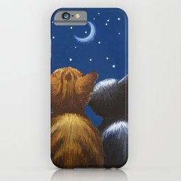 Cat Moon Love Be With You iPhone Case