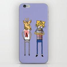Giraffe and Tiger iPhone & iPod Skin