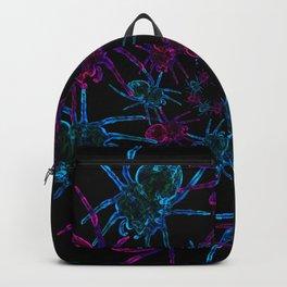 Neon spider spiral Backpack