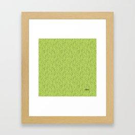 Feathered Flocks - Avocado Framed Art Print