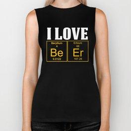 I Love Beer Science Shirt Biker Tank