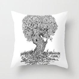 Ancient Tree II Throw Pillow