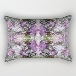Psychedelic Positive Notes Lavender Zoom Rectangular Pillow