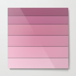 Colorful geometric pattern in shades of pink . Metal Print