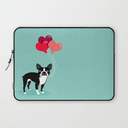 Boston Terrier Valentine heart balloons for pet owners and dog lovers gift for someone they love Laptop Sleeve