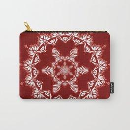 Christmas Spirit Snowflake Mandala Carry-All Pouch