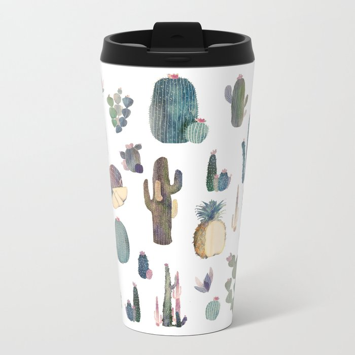 My best Cactus and Pineapples!!!! Metal Travel Mug