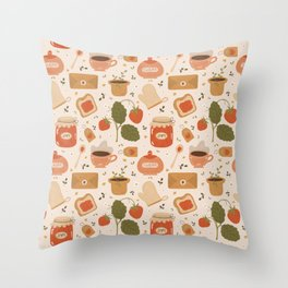 Strawberry Jam Throw Pillow