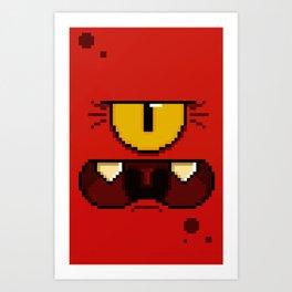 Moof Angry (pixel) Art Print