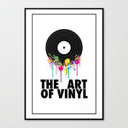 The Art of Vinyl Canvas Print