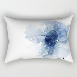 Blue Watercolor Poppies #2 Rectangular Pillow
