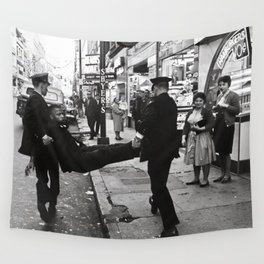John Lewis Being Arrested After A Sit In,60s Wall Tapestry