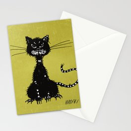 Ragged Evil Black Cat Stationery Cards
