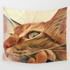 The cat Socca Wall Tapestry