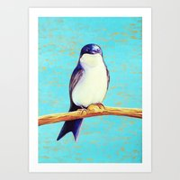 swallow Art Prints featuring Swallow by Pincay