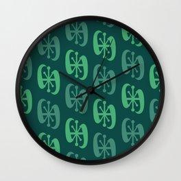 Starburst Bell Peppers Dark Green Wall Clock