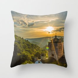 Monastery in Macedonia Throw Pillow
