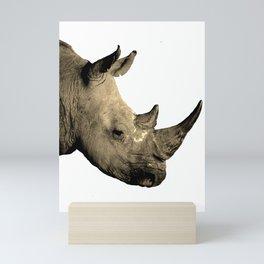 Scarred Rhino Mini Art Print