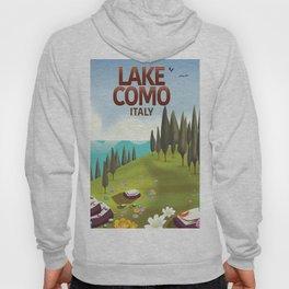 Lake Como Italy travel poster Hoody