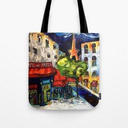 Cafe de Paris Tote Bag