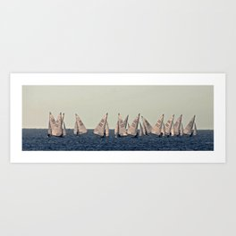 Sailboards Art Print