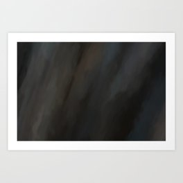 Abstract Dark Shades.  Like painted on canvas. Art Print