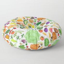 Fruit and Veg Pattern Floor Pillow