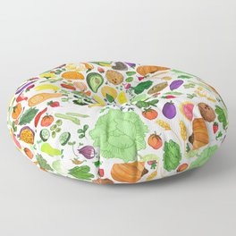 Fruit and Veg Pattern Floor Pillow