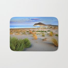 """Genoveses Beach"" Sunset at beach Bath Mat"