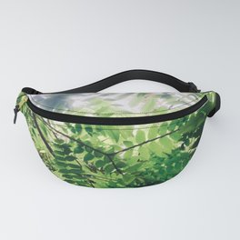 Sunlit Fern Leaves Fanny Pack