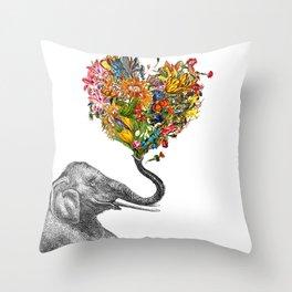Happy Elephant  Throw Pillow
