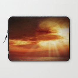 sunrise in the sea Laptop Sleeve